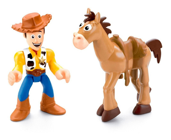 Toy Story Woody + Pangare Pe De Pano Cavalo Imaginext Fisher