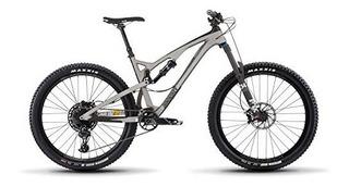 Release 4c Carbon Full Suspension Mountain Bike, Silver, 17