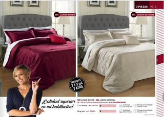 Kit 3 Piezas King Jacquard Premium Blanco Salo Bh