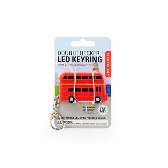 Llavero Novedad Diseño Bus Clásico Londinense Kikkerland