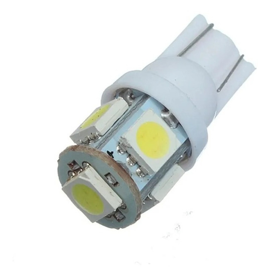 Lampara Led T10 W5w 5 Led Lamp Luz Posicion 6000k 12v