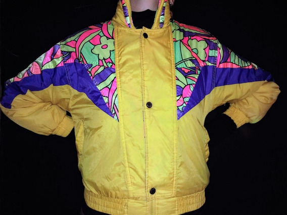Campera Inflable Vintage Colores Original 90s Talle S 502