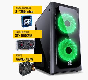 Pc Gamer I3-7350k, Ssd 240gb, 4gb Ddr4, Vga 2gb Gtx1050ti