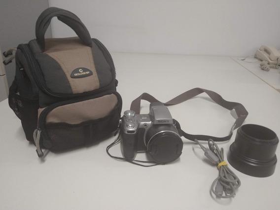 Máquina Fotográfica Digital Sony Dsc-h1 - Completa Com Case