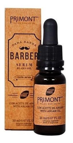 Serum Para Barba Con Aceite De Argan X 20ml Primont Barberia