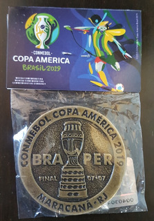 Medalha Moeda Copa América Final Brasil X Peru Frete Gratis