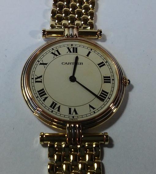 Relógio Feminino Cartier Vendome Trinity Todo De Ouro 18k
