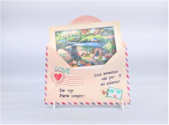 Porta Retrato Modelo Carta E Envelope Foto 10x15