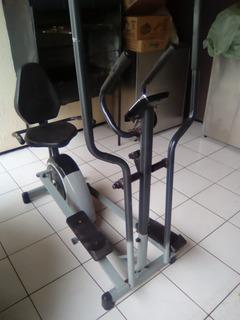 Elíptico E Bicicleta Ergométrica Horizontal Dream Fitness