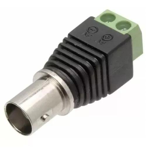 Kit 10 Plug Conector Bnc Femea Borne P/ Cftv Camera