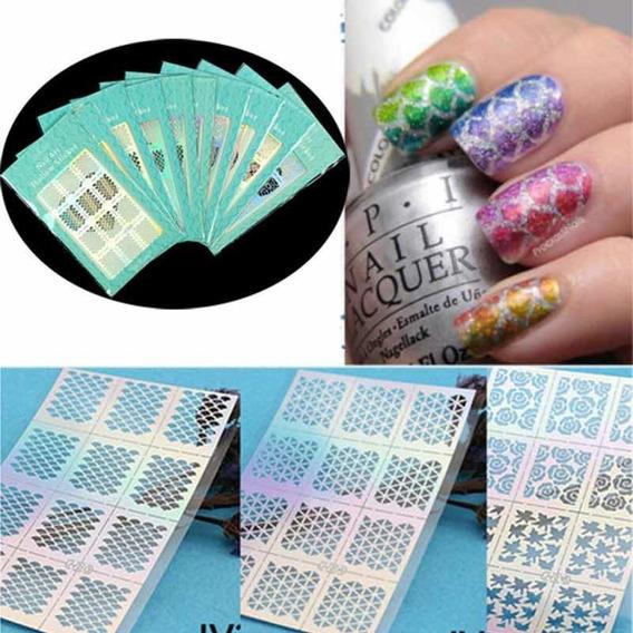 Vinilos Stencil Sticker Para Uñas Decoración Arte Nail Art