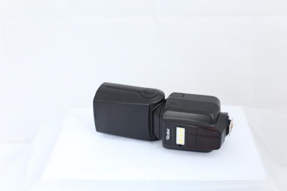 Flash Rollei (serve Para Nikon Ou Cânon) - Com Bateria