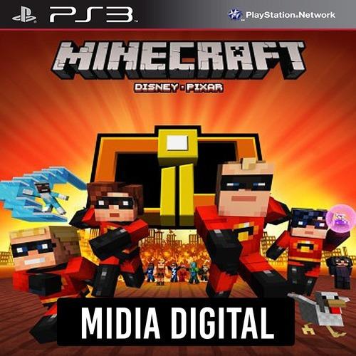 Pacote De Capas Os Incríveis Do Minecraft - Ps3 Psn*