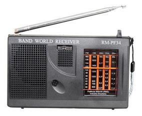 Rádio Portátil Motobras Rm-pf34 - Fm/am, 5 Faixas