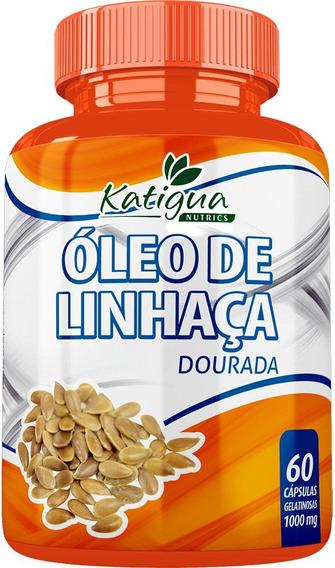 Óleo De Linhaça 60 Cápsulas 1000mg Katigua