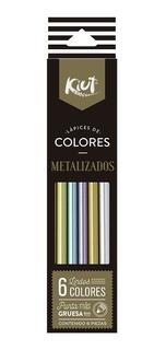 Kiut Colores Lápices Metal Metálicos Paquete Nuevo