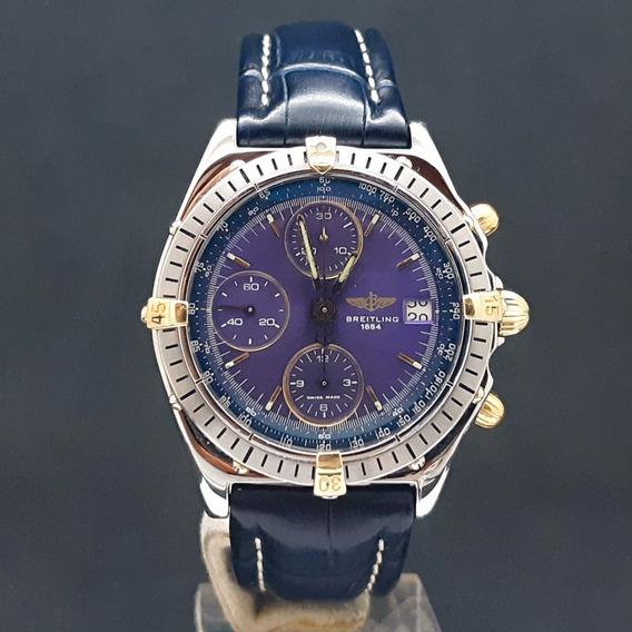 Relógio Breitling Chronomat Two Tone Blue Dial