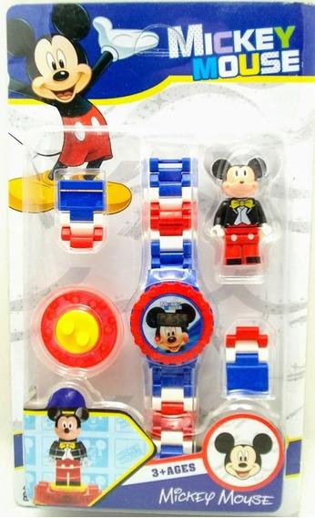 Relogio Digital Infantil Do Mickey + 1 Lego Do Mickey