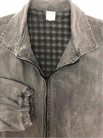 Campera Hombre Talle Large Jeans Gris Bien Abrigada