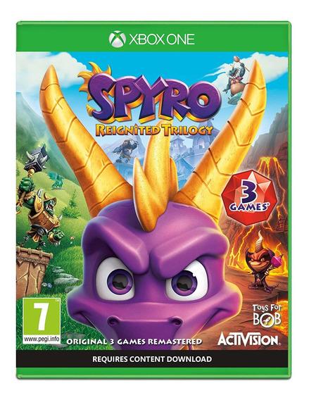 Jogo Spyro Reignited Trilogy Xbox One Mídia Física Original