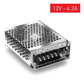 Fuente Switching Metalica 12v 4a Amp Cctv Tira Led