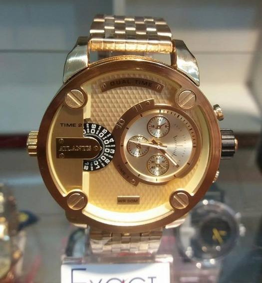 Relógio Masculino Dourado, Atlantis