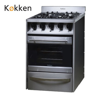 Cocina Industrial Kokken 55 Cm - 4 H Vidrio Y Termostato