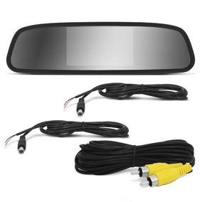 Espelho Retrovisor Inter Câmera Ré Flex Preta Tela 4,3