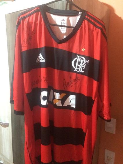 Camisa Flamengo 2013 Tam 2gg Autografada Pelo Andrade