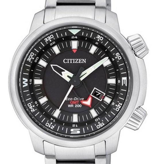 Relógio Citizen Eco Drive Bj7080-53e Tz30759t Sky Pilot Gmt