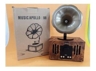 Parlante Bt Music Apollo B8 Diseño Retro Vintage Fonola