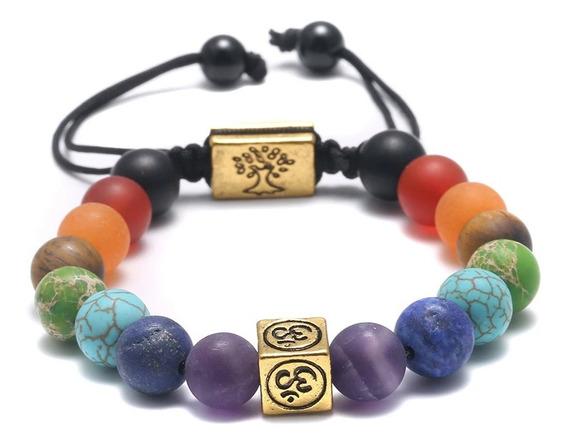 Pulseira Hooponopono,ajustável,pedras Naturais,c/caixa Love