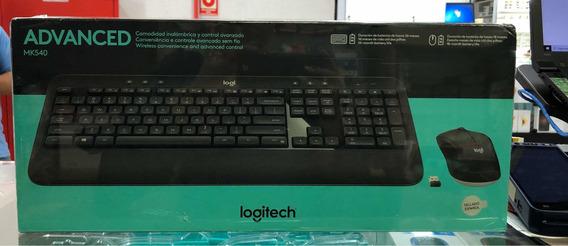 Teclado E Mouse S Fio Logitech Mk540 Espanhol