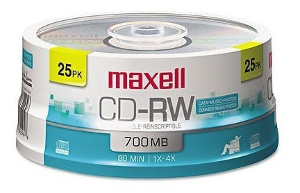 Cd - Rw Maxell Regrabable 700mb 80 Min 1x-4x Data Music Foto