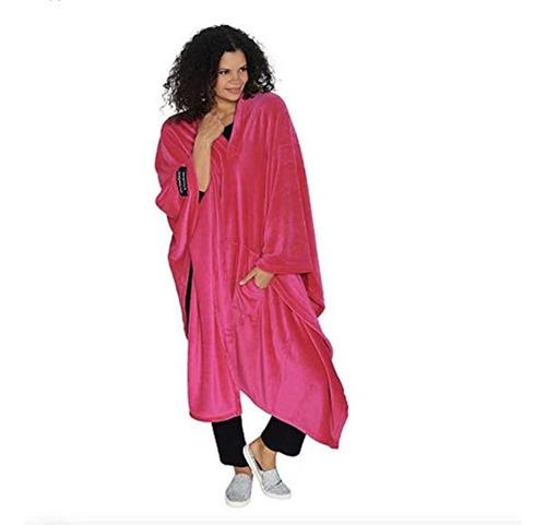 Imagen 1 de 5 de Original Throwbee Blanket-poncho Pink (yay! No Sleeves) Wear