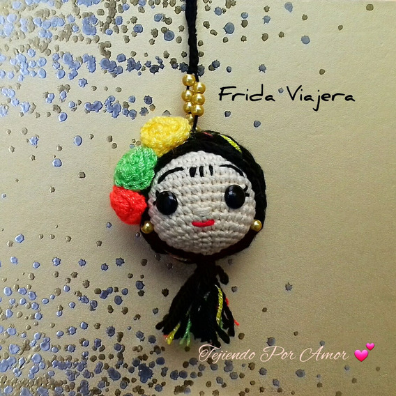 Frida Viajera Llavero Paquete De 6 Pzas Tejiendo Por Amor