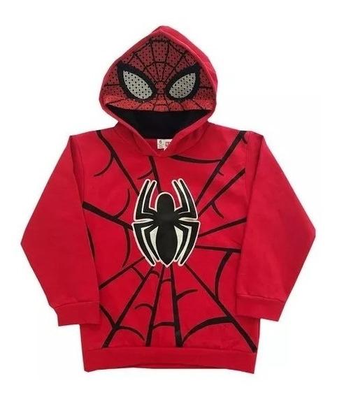 Buzo Nene Spiderman Con Capucha Y Mascara, Original Marvel