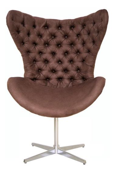 Cadeira Poltrona Egg Decorativa Capitonê Encapado Ou Strass