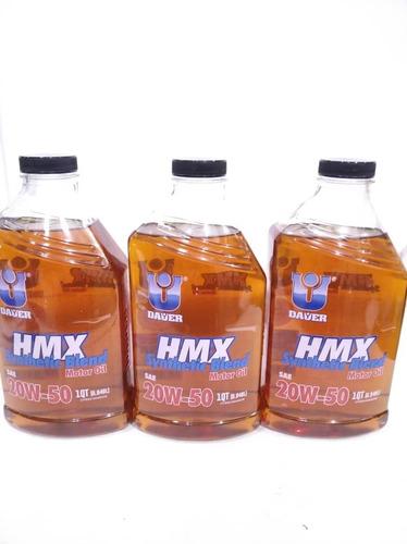 Imagen 1 de 2 de Aceite Semisintetico 20w50 Dauer Importado 946 Cm3 Api Sn
