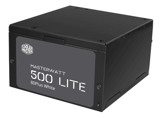 Fonte Cooler Master Masterwatt Lite 500w 80 Plus White