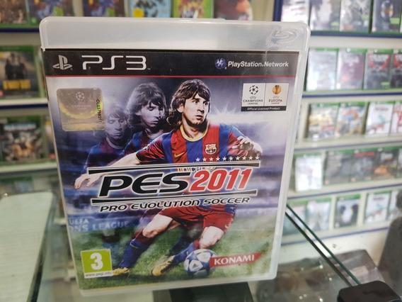 Pes 2011 Pro Evolution Soccer Usado Manuais Ps3 Mídia Física
