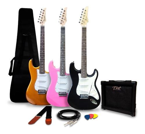 Imagem 1 de 6 de Kit Guitarra Stratocaster + Amplificador Correia Cabo