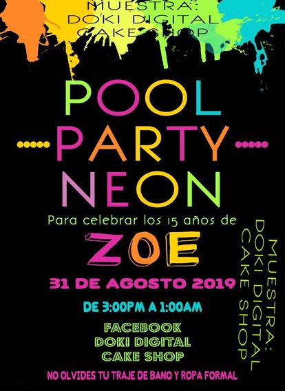 Invitaciones Neon Recuerdos Cotillón Y Fiestas En Mercado