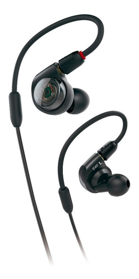 Fone De Ouvido In-ear Audio Technica Ath-e40 Preto + Estojo