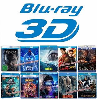 3 Peliculas Bluray 3d Full Menu Original Excelente Imagen 3d