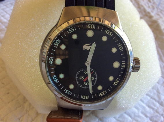 Relógio Lacost Quartz 40 Mm. Seminovo Com 2 Pulseiras