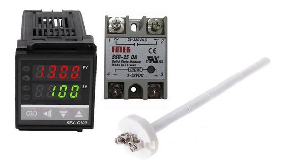 Controlador Temperatura Sensor Termopar 1300°c Relé Ssr60a