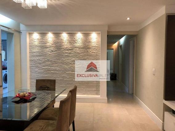 Apartamento Com 4 Dormitórios À Venda, 127 M² Por R$ 650.000,00 - Jardim Aquarius - São José Dos Campos/sp - Ap2673