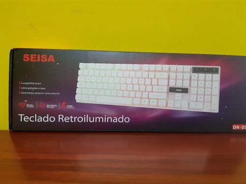 Teclado Gamers Multimedia Retroiluminado Usb Español