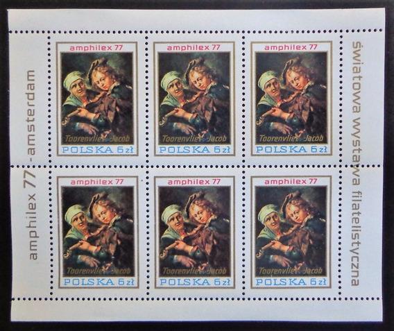 Polonia Arte, Bloque Sc. 2219 Amphilex 1977 Mint L10323